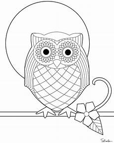 Ausmalbilder Muster Eule Don T Eat The Paste Owl Coloring Page
