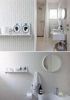 Bathroom Ideas Hexagon Tile by 32 White Hexagon Bathroom Tile Ideas And Pictures 2019