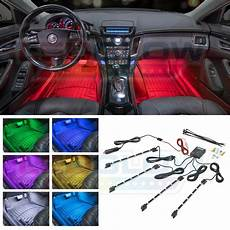 new ledglow 4pc 7 color led interior light kit for all