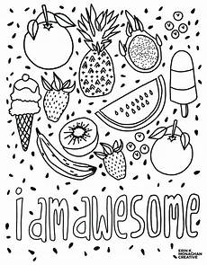 i am awesome coloring sheet growth mindset for kids