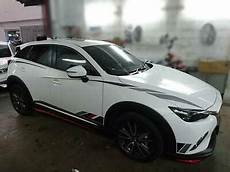 fits mazda cx3 cx 3 kit painted side skirts