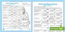 science worksheets for year 2 12096 year 2 earth and space science questions and colouring worksheet