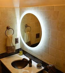 lighted vanity mirrors make up wall mounted 28 quot round mam2d28 ebay