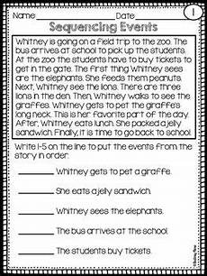 sequencing reading passages teaching