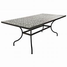 Metal And Cement Tile Dining Table W 200cm Rosa Maisons