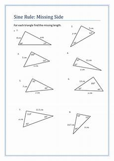 sine rule questions sheet teaching resources