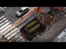 italy sinkhole opens in rome street youtube