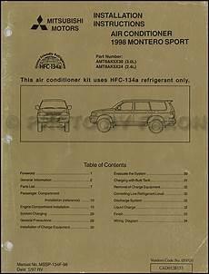 free car manuals to download 1998 mitsubishi montero spare parts catalogs 1998 mitsubishi montero sport air conditioner installation instruction manual original