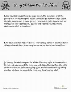 addition word problem worksheets for 5th grade 11218 scary skeleton word problems word problems math math words
