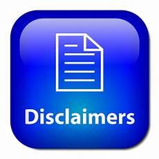 free website disclaimer information