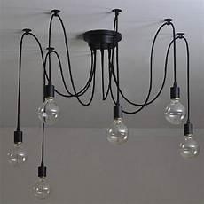 luminaire suspendu style industriel 6 t 234 tes vintage industriel edison le de plafond lustre