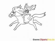 ausmalbild prinzessin reitet auf dem pferd kostenlos