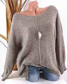 strick pullover oversize grobstrick pulli taupe 36