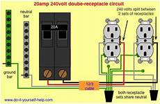 wiring 20 double receptacle circuit breaker 120 volt circuit shop wiring electrical