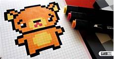 handmade pixel how to draw kawaii teddy