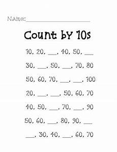 skip counting by 10 s worksheet for kindergarten 12022 missing number skip counting by 10s worksheet by mrs thompson teaches