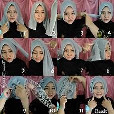 Tutorial Jilbab Segi Empat Untuk Ke Pesta Whita Jilbab 12