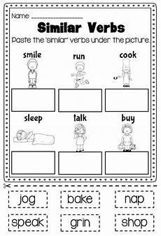 verbs printable worksheet kindergarten first second