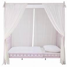 baldacchino per letto letto a baldacchino rosa in metallo per bambini 90x190