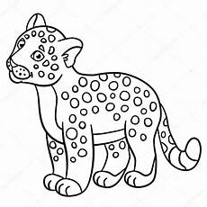 coloring pages baby jaguar smiles stock