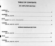 1999 toyota a c wiring diagram manual original corolla rav4 tacoma 4runner