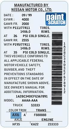 nissan touch up paint color code and directions for nissan paintscratch com