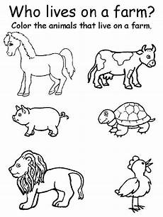 coloring pages of farm animals for preschoolers 17331 image result for farm theme activity sheets for toddlers farm animals preschool animal