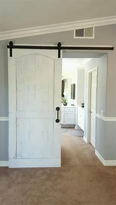 barn door bedroom door distressed white barn door with hardware for a master