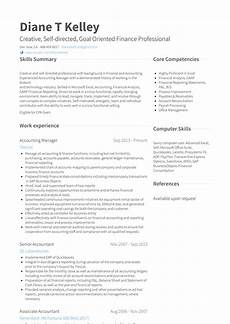 accounting manager resume sles and templates visualcv