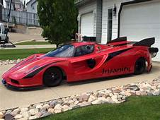 Ferrari Enzo Inspired Jet Car Side Three Quarters View