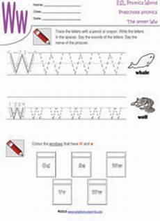 pre k worksheets letter w 24429 preschool worksheets letters a z tracing kindergarten phonics