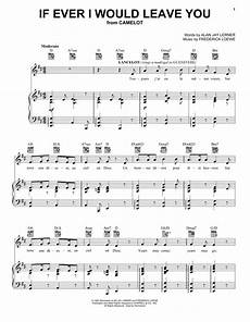 if ever i would leave you sheet music frederick loewe