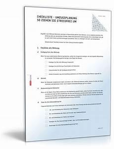 umzugsplanung checkliste zum