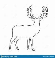 black outline silhouette of reindeer with big horns on