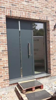 porte d entrée avec tierce porte avec 1 tierce s 233 rie reynaers cs 86 panneau 224