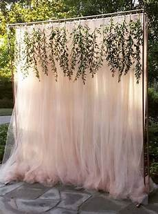 wedding ceremony arch ideas tulle backdrop wedding
