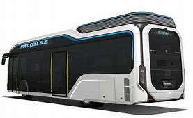 "Toyota's Fuel Cell City Bus Concept ""Sora"" Debuts At The"