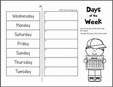 days of the week worksheets mamas learning corner