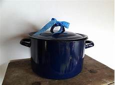 Alte Emaille Töpfe - riieesiger emaille topf emailletopf blau cooker rice