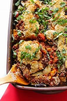 vegan eggplant parmesan bake layers of happiness