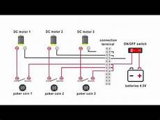 diy pinball game electrical wiring connection diagram youtube