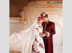 Islamic Women dress white red blue Men abaya Muslim