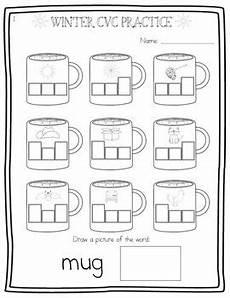winter cvc worksheets 19980 a mug of winter cvc words segmenting consonant vowel consonant 3 levels