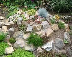 Stein Dekoration Mit Kleinen Pflanzen Im Garten 53