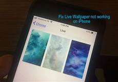 iphone xr dynamic wallpaper not working solved live wallpaper not working on iphone xs max x 8 8