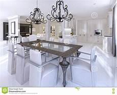 tavolo da sala da pranzo sala da pranzo lussuosa con le sedie progettista e
