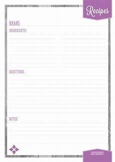 home organizer recipe pages eliza ellis