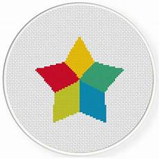 free cross stitch patterns stars colorful star cross stitch pattern daily cross stitch