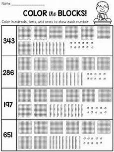 2nd grade math worksheet blocks composing and decomposing numbers 2nd grade maths ideas