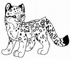 ausmalbilder baby leopard ausmalbilder